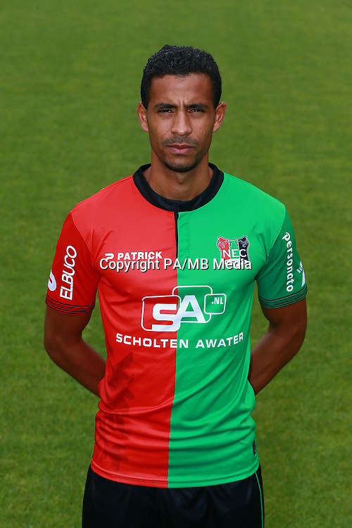 Marcel Appiah during the team presentation of NEC Nijmegen on July 08, 2015 at the Goffert stadium in Nijmegen, The Netherlands