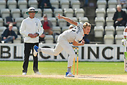 Dillon Pennington of Worcestershire bowling during the final day of the Specsavers County Champ Div 1 match between Worcestershire County Cricket Club and Surrey County Cricket Club at New Road, Worcester, United Kingdom on 13 September 2018.