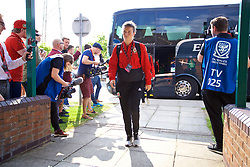 NEWPORT, WALES - Tuesday, June 12, 2018: Wales' Hayley Ladd arrives before the FIFA Women's World Cup 2019 Qualifying Round Group 1 match between Wales and Russia at Newport Stadium. (Pic by David Rawcliffe/Propaganda)