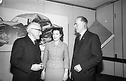 Road Safety Fortnight..1964..18.12.1964..12.18.1964..18th December 1964..After a fortnight of publicity and campaigning for better road safety, the Minister for Local Government, Mr Neil Blaney TD, met with road safety officials to review the results of the campaign. The press conference was held at the Intercontinental Hotel, Dublin...At the press conference, image shows, (L-R), Mr William Lemass, Secretary, Society of Irish motor Traders; Ms Alyce Kelly, General Secretary, Safety First Association of Ireland and Supt Patrick McGonagle, Road Traffic Section, Garda HQ, Phoenix Park Dublin.