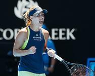 ANGELIQUE KERBER (GER) macht die Faust und jubelt,Jubel, Emotion, Freude,<br /> <br /> Tennis - Australian Open 2018 - Grand Slam / ATP / WTA -  Melbourne  Park - Melbourne - Victoria - Australia  - 22 January 2018.
