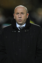 Accrington Stanley Manager, John Coleman - Photo mandatory by-line: Dougie Allward/JMP - Mobile: 07966 386802 - 16/12/2014 - SPORT - football - Yeovil - Huish Park - Yeovil Town v Accrington Stanley - FA Cup