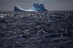 ATLANTIC OCEAN ABOARD ARCTIC SUNRISE 22MAY11 - Iceberg in the north Atlantic, about 55 degrees north and 30 degrees west.....jre/Photo by Jiri Rezac / Greenpeace