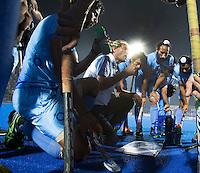 BHUBANESWAR (India) - Roelant Oltmans , coach van Pakistan. Gekte rond de halve finalewedstrijd tuusen India en Pakistan bij de Champions Trophy hockey. Bij India is Roelant oltmans de bondscoach . Pakistan won verrassend door in de laatste minuut te scoren. ANP KOEN SUYK