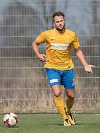 FODBOLD: Frederik Eilsø (Ølstykke FC) under kampen i Serie 1 mellem Helsinge Fodbold og Ølstykke FC den 14. april 2018 på Helsinge Stadion. Foto: Claus Birch.