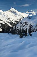 Upper Marriott Basin in winter, Coast Mountains British Columbia