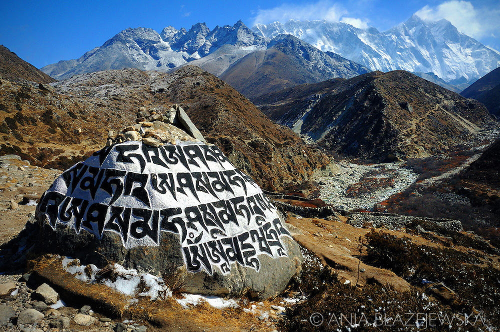 Nepal, Himalayas. Buddhist chorten in the Everest region.