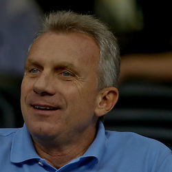 Sep 7, 2013; New Orleans, LA, USA; Former NFL quarterback Joe Montana in the stands to watch his son Tulane Green Wave starting quarterback Nick Montana against the South Alabama Jaguars at the Mercedes-Benz Superdome. South Alabama defeated Tulane 41-39. Mandatory Credit: Derick E. Hingle-USA TODAY Sports