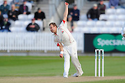 Lancashire's Neil Wagner during the Specsavers County Champ Div 1 match between Somerset County Cricket Club and Lancashire County Cricket Club at the County Ground, Taunton, United Kingdom on 3 May 2016. Photo by Graham Hunt.