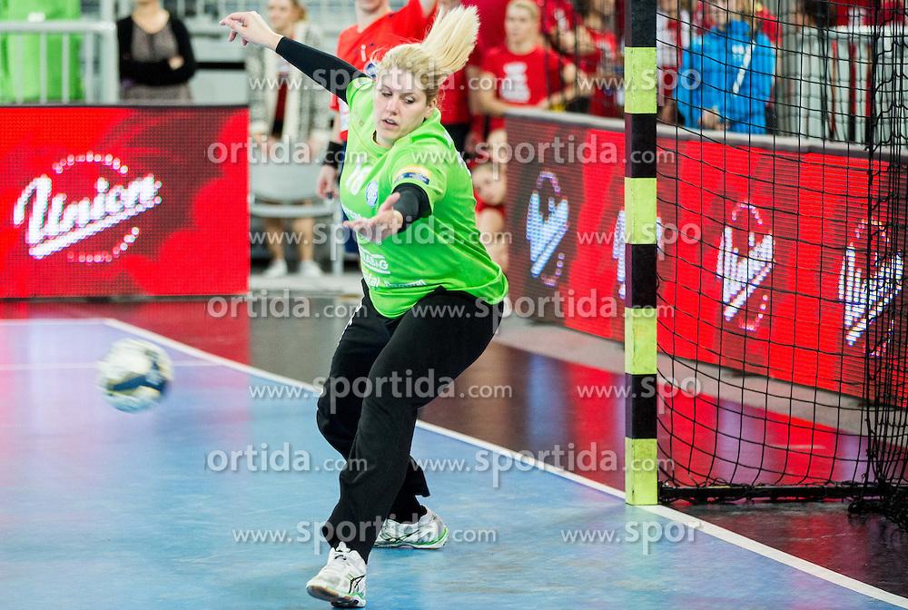 Misa Marincek #16 of RK Krim Mercator during handball match between RK Krim Mercator (SLO) and HC Leipzig (GER) in 6th Round of Women's EHF Champions League 2014/15, on November 21, 2014 in Arena Stozice, Ljubljana, Slovenia. Photo by Vid Ponikvar / Sportida