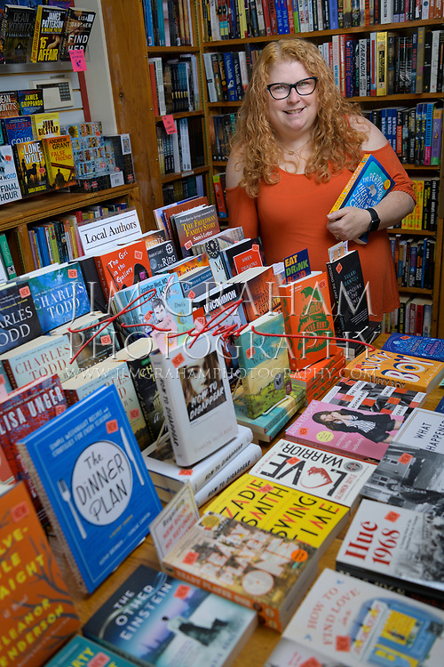 Lisa Driban, the store manager of the Hockessin Book Shelf in Hockessin, De., on 15 September 2017.Photograph by Jim Graham