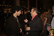 TIM NOBLE  AND HAMISH MCALPINE, Champagne reception celebrating 100 years of Chinese cinema  hosted by Hamish McAlpine of Tartan Films, Raising money for Care For Children, a foster care programme in China. Aspreys. New Bond St. London. 25 April 2006. ONE TIME USE ONLY - DO NOT ARCHIVE  © Copyright Photograph by Dafydd Jones 66 Stockwell Park Rd. London SW9 0DA Tel 020 7733 0108 www.dafjones.com