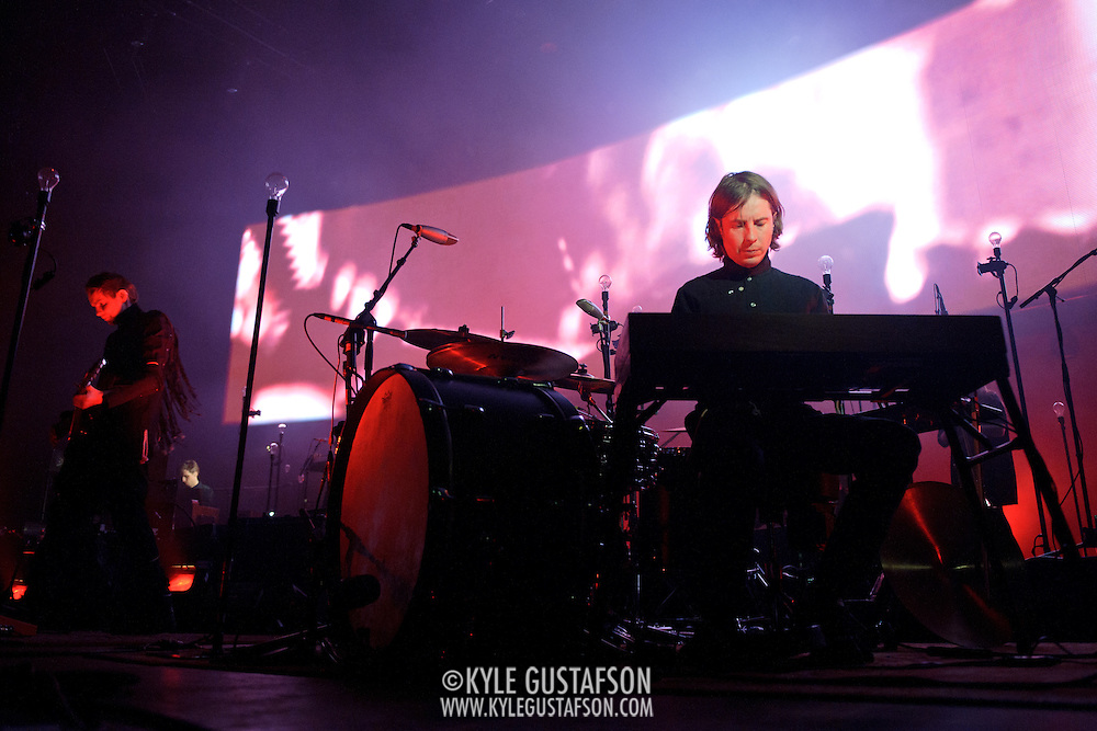 FAIRFAX, VA - March 24th, 2013 -  Jonsi and Orri Páll D?rason of Sigur Ros perform at the Patriot Center in Fairfax, VA on the opening date of their 2013 North American tour.  The band will hit 15 cities in North America touring behind their 2012 album, Valtari. (Photo by Kyle Gustafson/For The Washington Post)