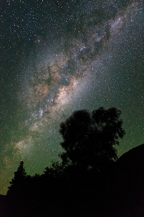 Milky Way and southern stars as seem from Sutherland, South Africa.