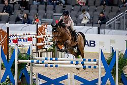 KARLSSON Irma (SWE), Ida van de Bisschop<br /> Göteborg - Gothenburg Horse Show 2019 <br /> Longines FEI Jumping World Cup™ Final<br /> Training Session<br /> Warm Up Springen / Showjumping<br /> Longines FEI Jumping World Cup™ Final and FEI Dressage World Cup™ Final<br /> 03. April 2019<br /> © www.sportfotos-lafrentz.de/Stefan Lafrentz