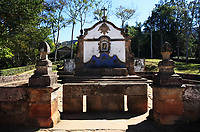 fountain of the typical village of tiradente in minas gerais state in brazil