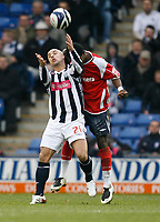 Photo: Steve Bond/Sportsbeat Images.<br /> West Bromwich Albion v Charlton Athletic. Coca Cola Championship. 15/12/2007. Kevin Phillips (L) is challanged from behind