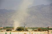 Desert sandstorm Photographed in the Aravah Desert Near Eilat, Israel