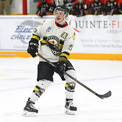 "TRENTON, ON  - MAY 5,  2017: Canadian Junior Hockey League, Central Canadian Jr. ""A"" Championship. The Dudley Hewitt Cup Game 7 between Georgetown Raiders and the Powassan Voodoos.   Dayton Murray #20 of the Powassan Voodoos skates during the third period<br /> (Photo by Alex D'Addese / OJHL Images)"