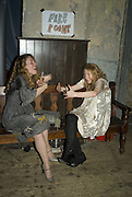 CAMILLA SIMSON AND MARY STOCKLEY, Discover Wilton's Music Hall, Fundraising event. Graces alley, Ensign St. London. 5 December 2007. -DO NOT ARCHIVE-© Copyright Photograph by Dafydd Jones. 248 Clapham Rd. London SW9 0PZ. Tel 0207 820 0771. www.dafjones.com.
