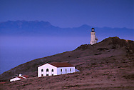 Lighthouse in evening, East Anacapa Island, Channel Islands National Park, California
