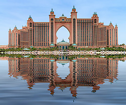The Palm Atlantis luxury hotel on The Palm Jumeirah artificial island in Dubai United Arab Emirates