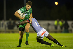 September 9, 2017 - Galway, Ireland - Tom Farrell of Connacht tackled by Yaw Penxe of Kings during the Guinness PRO14 rugby match between Connacht Rugby and Southern Kings at the Sportsground in Galway, Ireland on September 9, 2017  (Credit Image: © Andrew Surma/NurPhoto via ZUMA Press)
