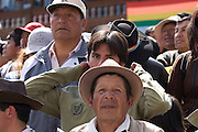 "The crowd watches the procession. Inti Raymi ""Festival of the Sun"", Plaza de Armas, Cusco, Peru."