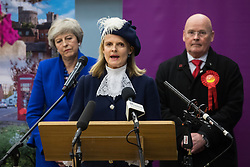 Maidenhead, UK. 13 December, 2019. The High Sheriff of Berkshire, Lucy Zeal, announces that the Conservative candidate, former Prime Minister Theresa May, has been re-elected as the Member of Parliament for the Maidenhead constituency.