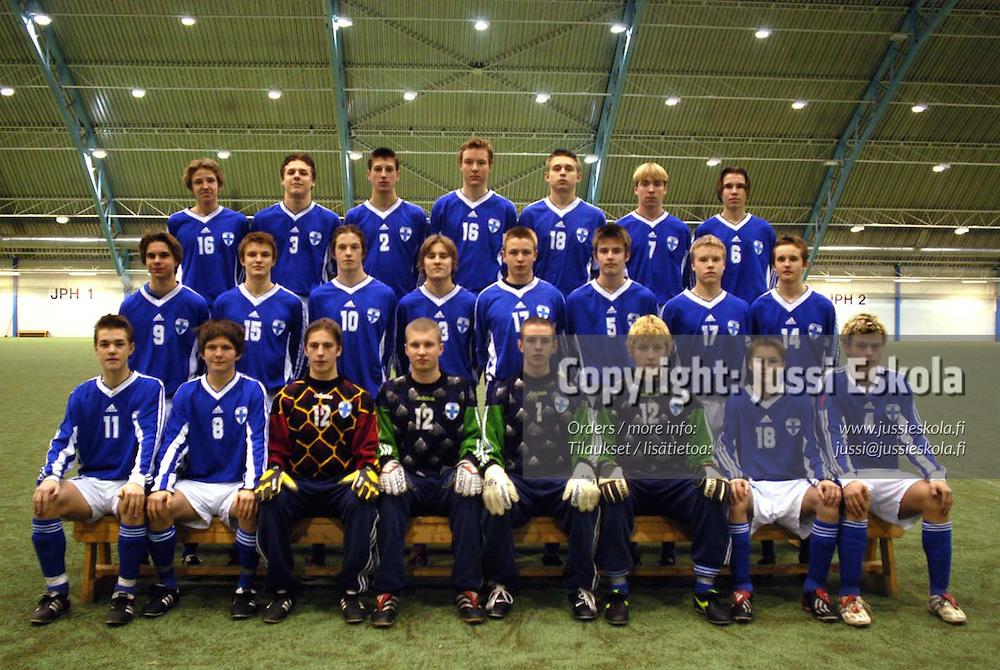 U15-maajoukkue, Eerikkil&auml; 7.2.2003.&amp;#xA;Photo: Jussi Eskola<br />