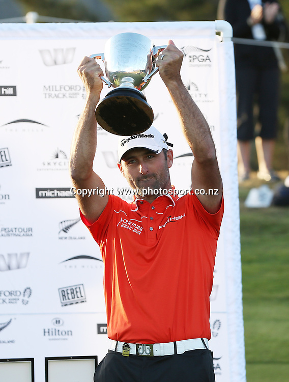 Michael Hendry winner of the New Zealand PGA championships at The Hills, Arrowtown, New Zealand. Sunday, 3 March 2013. Photo: Michael Thomas/Photosport.co.nz