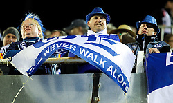15.02.2011, Estadio Mestalla, Valencia, ESP, UEFA CL, FC Valencia vs Schalke 04, im Bild Schalke 04's fans before Champions League Match. February 15, 2011, EXPA Pictures © 2011, PhotoCredit: EXPA/ Alterphotos/ Alvaro Hernandez