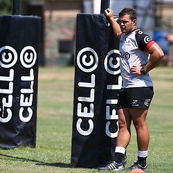 Franco Marais during the cell c sharks pre season training session at  Growthpoint Kings Park ,22,01,2018 Photo by Steve Haag)