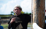 10/08/2014 Superstar sailor Paddy Dundass from Kilkerrin in Connemara who in keeping with tradition brought turf in a Galway hooker from Connemara to Kinvara during the annual Crinniu na mBad Festival. Photo:Andrew Downes