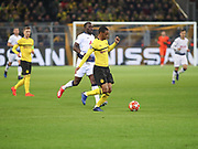 Abdou Diallo of Dortmund with the ball during  the Champions League round of 16, leg 2 of 2 match between Borussia Dortmund and Tottenham Hotspur at Signal Iduna Park, Dortmund, Germany on 5 March 2019.