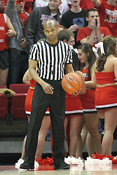 02 February 2013:  referee Byron Jarrett during an NCAA Missouri Valley Conference mens basketball game where the Salukis of Southern Illinois lost to the Illinois State Redbirds for Retro-Night 83-47 in Redbird Arena, Normal IL