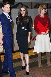 Victoria Beckham launches the Britains GREAT campaign after being named as their international ambassador at  Grand Central Station in New York, Wednesday 15th February 2012. With Hamish Bowles and Anna Wintour.  Photo by: Stephen Lock / i-Images