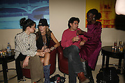Maria Papas, Dixie Chassay, Tom Guard and Nana Ayim, The 25th hour post party at the Plaza on the River, 18 Albert Embankment. Culmination of the 24 Hour Plays Celebrity Gala at the Old Vic.London. 8 October 2006.  -DO NOT ARCHIVE-© Copyright Photograph by Dafydd Jones 66 Stockwell Park Rd. London SW9 0DA Tel 020 7733 0108 www.dafjones.com