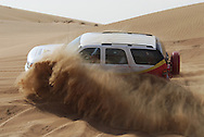 Dubai, UAE. Not far from Dubai, the wind molds the sand into beautiful dunes, offering a unique natural paradise. Local companies offer desert safaris and dune rides. Neeza Sharjah Dunes. United Arab Emirates.&amp;#xD;<br />