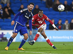 Jonathan Kodjia of Bristol City goes close late on  - Mandatory byline: Joe Meredith/JMP - 07966 386802 - 26/10/2015 - FOOTBALL - Cardiff City Stadium - Cardiff, Wales - Cardiff City v Bristol City - Sky Bet Championship