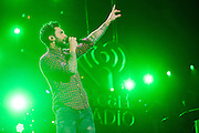 Maroon 5 performing at the iHeartRadio Jingle Ball 2014, hosted by Z100 New York at Madison Square Garden on December 12, 2014 in New York City.