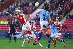 February 23, 2019 - Sheffield, England, United Kingdom - Louise Quinn of Arsenal and Jennifer Beattie of Manchester City..during the FA Women's Continental League Cup Final football match between Arsenal Women and Manchester City Women at Bramall Lane on February 23, 2019 in Sheffield, England. (Credit Image: © Action Foto Sport/NurPhoto via ZUMA Press)