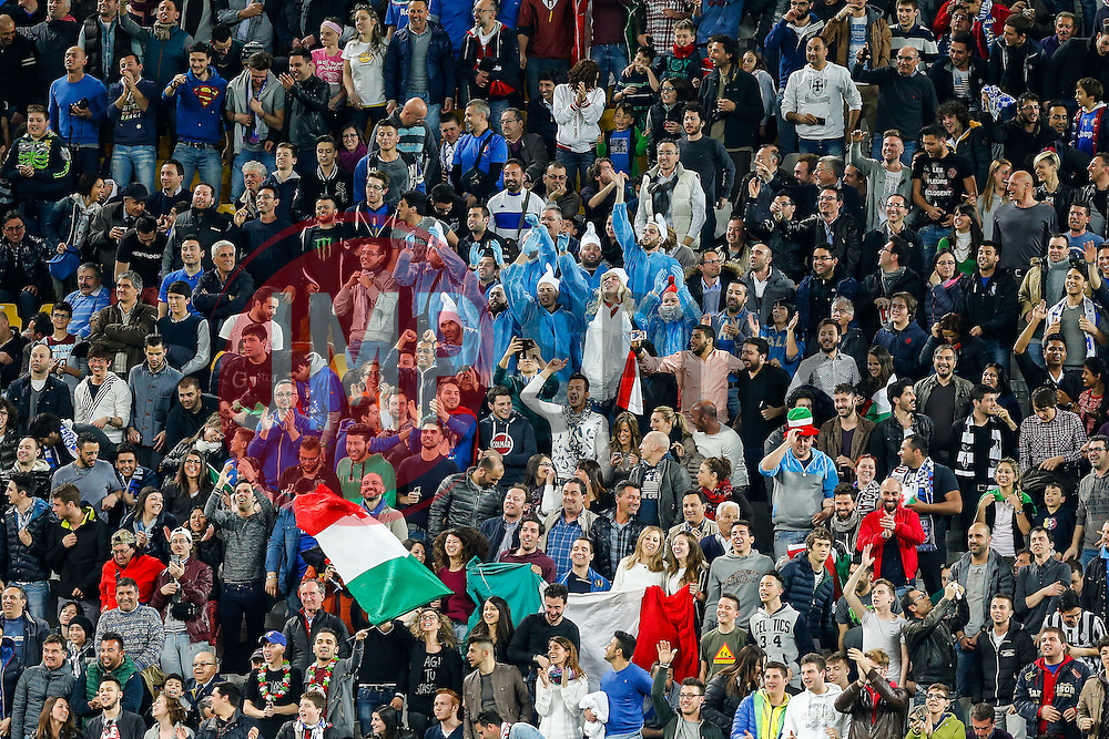 Italy fans, including a group dressed as smurfs, celebrate after their side go 1-0 up - Photo mandatory by-line: Rogan Thomson/JMP - 07966 386802 - 31/03/2015 - SPORT - FOOTBALL - Turin, Italy - Juventus Stadium - Italy v England - FIFA International Friendly Match.