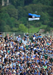 A general view of the crowd at the Recreation Ground - Photo mandatory by-line: Patrick Khachfe/JMP - Mobile: 07966 386802 13/09/2014 - SPORT - RUGBY UNION - Bath - The Recreation Ground - Bath Rugby v London Welsh - Aviva Premiership