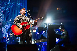 © Licensed to London News Pictures. 19/04/2014. London, UK.   James Blunt performing live at the Royal Albert Hall as part of his Moon Landing 2014 World Tour.    James Blunt is an English singer-songwriter, musician and former army captain.  James Blunt is his stage name - his real name is James Hillier Blount.  Photo credit : Richard Isaac/LNP