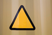 Close-up of warning triangle