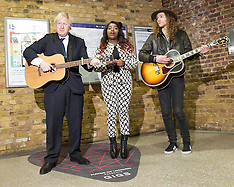 MAR 26 2013 Boris Johnson  and Misha B - London Busking Star