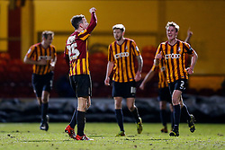 Andrew Halliday of Bradford City celebrates scoring a goal to make it 3-0 - Photo mandatory by-line: Rogan Thomson/JMP - 07966 386802 - 14/01/2015 - SPORT - FOOTBALL - Bradford, England - Coral Windows Stadium - Bradford City v Millwall - FA Cup Third Round Replay.