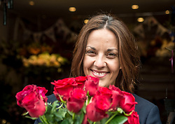 Scottish Labour leader Kezia Dugdale visits Rowan Flowers in Edinburgh as part of Labour's campaign push in Edinburgh East.<br /> <br /> &copy; Dave Johnston/ EEm