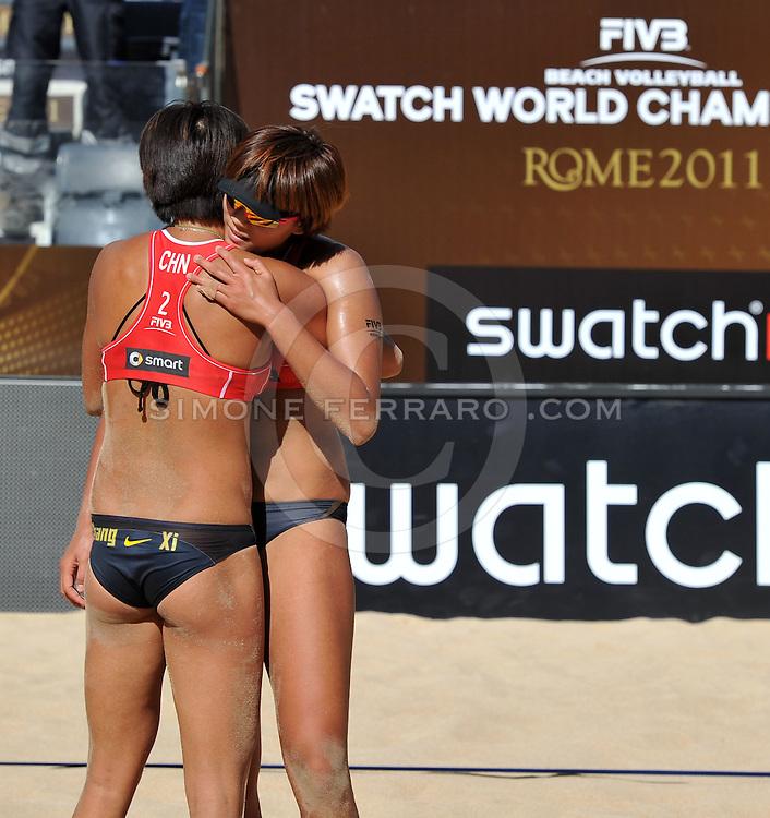 Roma, 19/06/2011..Swatch World Championships Rome2011. Foro Italico..Xue-Zhang Xi CHN vs Klapalova-Hajeckova CZE. Finale 3-4 posto femminile..Foto Ferdinando Mezzelani - GMT..